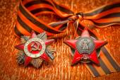Order of the Red Star Jubilee Medal World War II. George Ribbon — Stock Photo