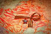 Map of battles in World War II. George Ribbon, Order of the Red Star. Anniversary May 9 Victory — Stock Photo