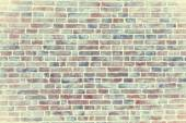 Light vintage textured background brick with light vignetting — Stock Photo