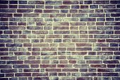 Texture of old vintage brick wall, vignetting — Stock Photo