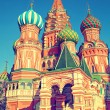 Domes of the famous Head of St. Basil's Cathedral on Red square, Moscow, Russia — Stock Photo #73936835