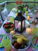 Patio romantic in the evening — Stock Photo