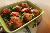 Meatballs with tomato sauce — Stock Photo