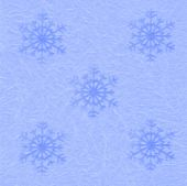 Festive blue packing Paper with snowflakes for background — Stock fotografie