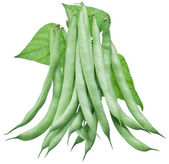 Fresh green beans isolated on a white background. — Foto Stock