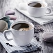 Cup of coffee and french macaron. — Stock Photo #54494969