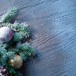 Christmas decoration with fir and baubles. — Stock Photo #54665419