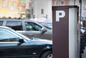 Parking meter in the town. — Stock Photo
