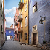 Narrow streets of Old Town, Warsaw — Stock Photo