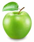 Green apple on a white background. File contains clipping paths. — Stock Photo