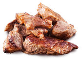 Roasted meat pieces. File contains clipping paths. — Stock Photo