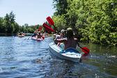 Rafting on the Vorskla River. — Stock Photo