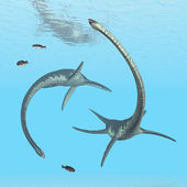 Plesiosaur Elasmosaurus — Stok fotoğraf