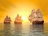 The Battle of Trafalgar — Stockfoto