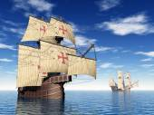 Portuguese Caravels — Stock Photo