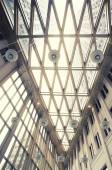 Glass ceiling in hall of  new State office — Stock Photo