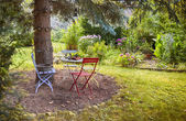 France home garden — Stock Photo