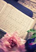 Antique music notes — Stock Photo
