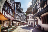 Street of Petit-France - part of old town, Strasbourg,  France,  — Stock Photo