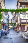 Evening life in Strasbourg old town, France, July 2014 — Stock Photo