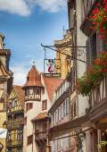 Street decoration of typical french signage, Strasbourg, France  — Stock Photo