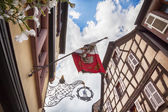 Street decorative signage of shop in Kaysersberg ( Alsace, Franc — Stock Photo