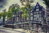 Old Amsterdam near Oudezijds Voorburgwal, september 2014 — Stock Photo