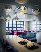 Tables in dutch restaurant — Stock Photo