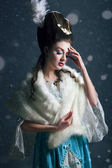 Rainha da neve, creative closeup retrato — Foto Stock
