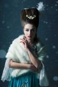 Sneeuwkoningin, creatieve close-up portret — Stockfoto