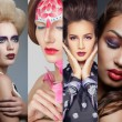 Beauty collage. Faces of women. Fashion photo — Stock Photo #60384815