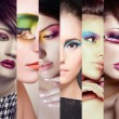 Beauty collage. Faces of women. Fashion photo — Stock Photo #60384819