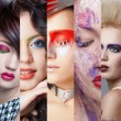 Beauty collage. Faces of women. Fashion photo — Stock Photo #60539585
