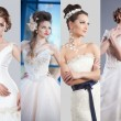 Beauty collage. Beautiful and fashion bride — Stock Photo #63902735