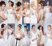 Beauty collage. Beautiful and fashion bride — Stock Photo