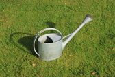 Watering-can (watering-pot) on the grass — Stock Photo