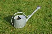 Бидон (горшок полива) на траве — Стоковое фото