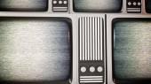Retro tv screens with static. — Stock Photo