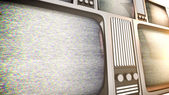 Tv sets with static. — Stock Photo