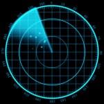 Modern Radar sreen display. — Stock Photo #57971809