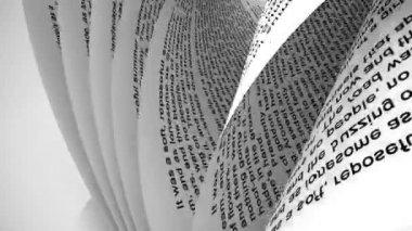 Pagina's van een boek — Stockvideo