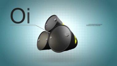 Description of Oil barrels — Stok video