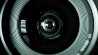 Camera photo lens — Stock Video