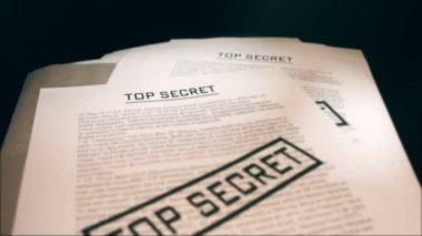 Top secret documents — Stock Video