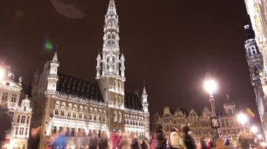The Grand Place in Rain — Stockvideo