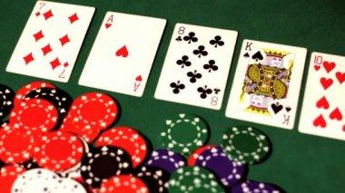 Gambler takes the money. — Stock Video