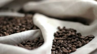 Fresh roasted Coffee beans — Stock Video