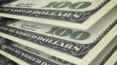 One hundred dollar bills. — Stock Video
