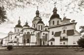 Rear view of Saint Sophia Cathedral in Kiev, 11th century, black — Stock Photo