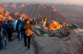 Pilgrims way down from the Holy Mount Sinai, Egypt — Stock Photo